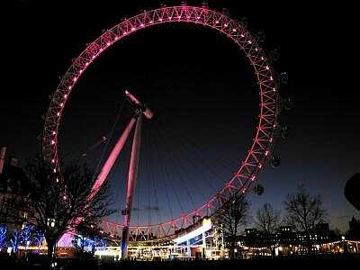 London Eye, London at night