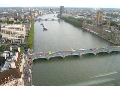 The River Thames from The London Eye