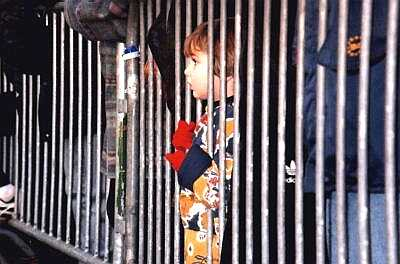 Child at railings