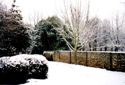 London, Islington in snow, Rosemary Gardens
