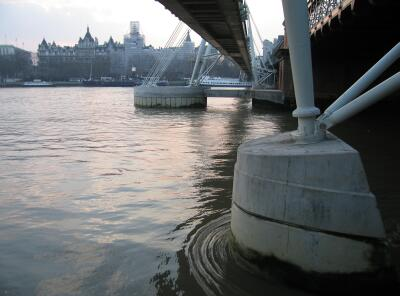 Evening on The River Thames, London