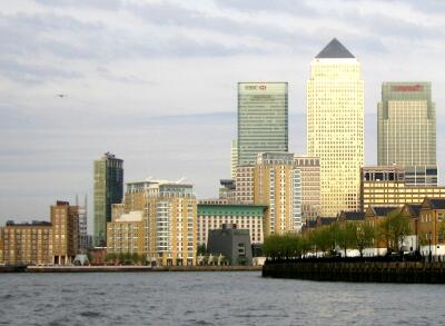 London, River Thames, Docklands, Canary Wharf,