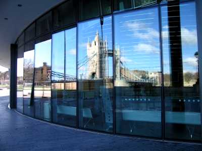 Tower Bridge reflection, GLA headquarters, London