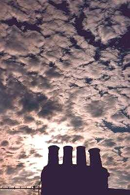 Sky and chimneys, Islington, London