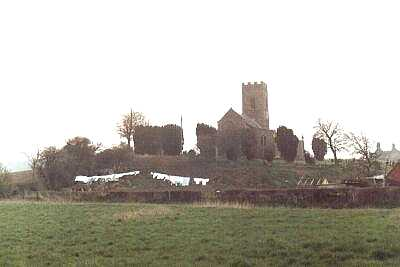 Church and washing, Norfolk
