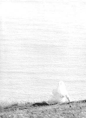 Beachy Head, East Sussex, south coast, black and white