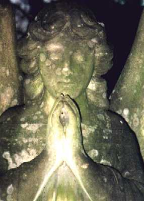 Stone angels, Abney Park Cemetery, Stoke Newington, London