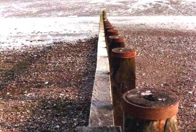 Breakwater, Worthing beach, Sussex